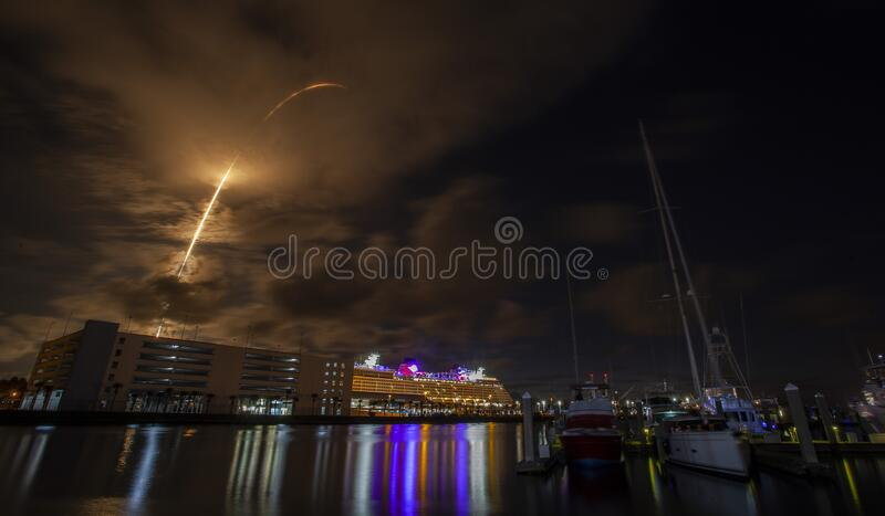 SpaceX launch stock photography