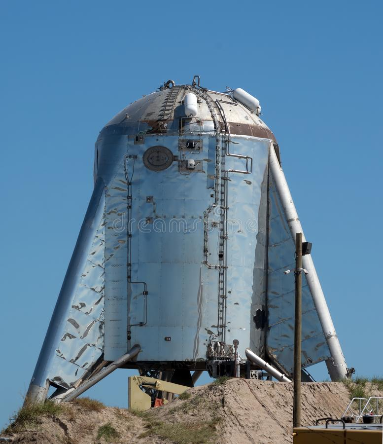 SpaceX`s Starhopper, Starship prototype. Boca Chica Village, Texas, United States. Boca Chica Village, Texas, United States. SpaceX`s Starhopper, Starship royalty free stock image