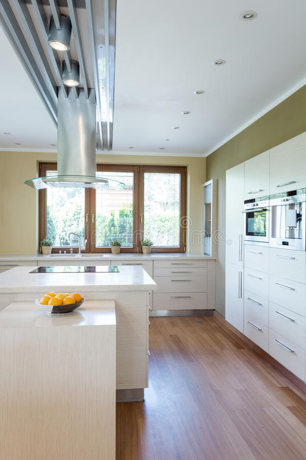 Free Spacious Bright Kitchen Royalty Free Stock Image - 89838206