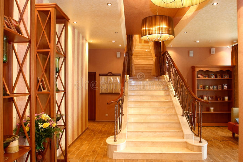 Download Spacious hall stock photo. Image of design, ladder, hotel - 24378632