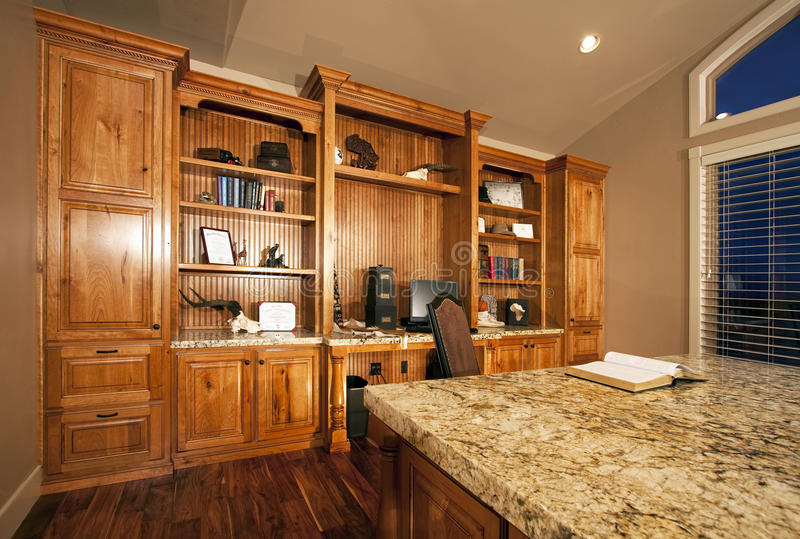 spacious home office cabinets royalty free stock Unfinished Bookcase Cabinets Bookcases and Shelves