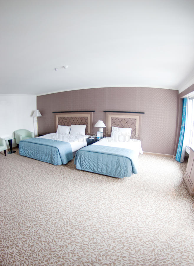 Spacious hotel room. Interior of a spacious hotel room royalty free stock photo