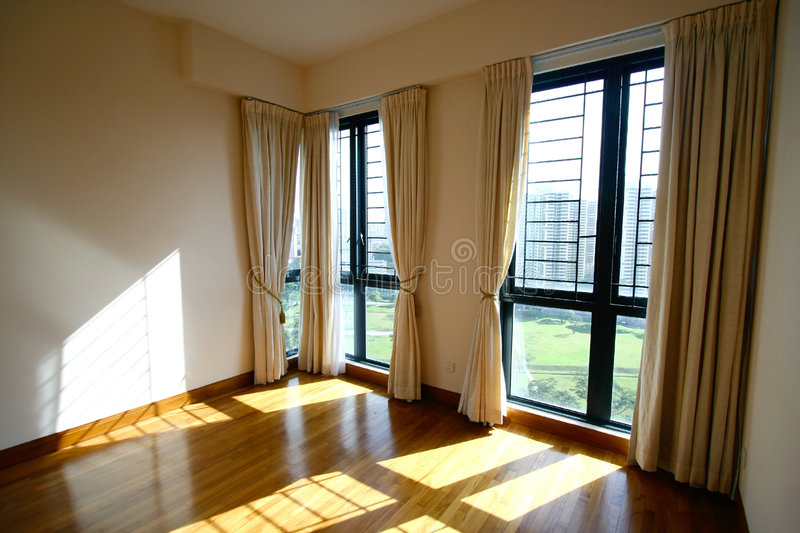 Spacious interior of a modern home royalty free stock images