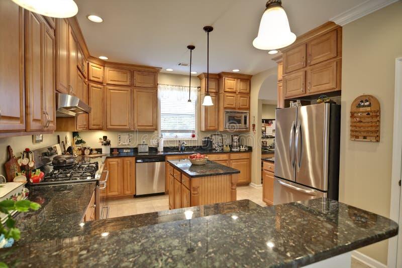 Spacious kitchen royalty free stock photo
