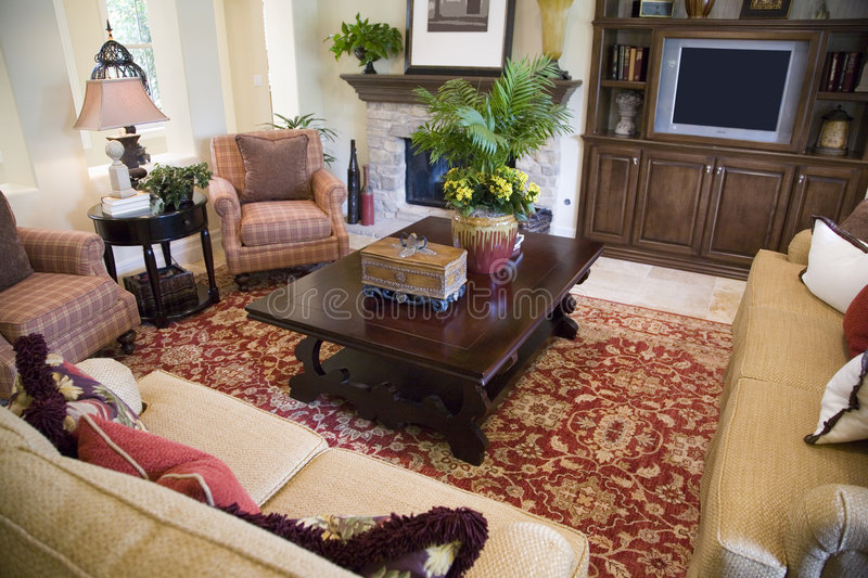 Download Spacious living room stock image. Image of lobby, fireplace - 4835041