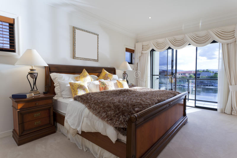 Download Spacious master bedroom stock image. Image of real, showcase - 25041385