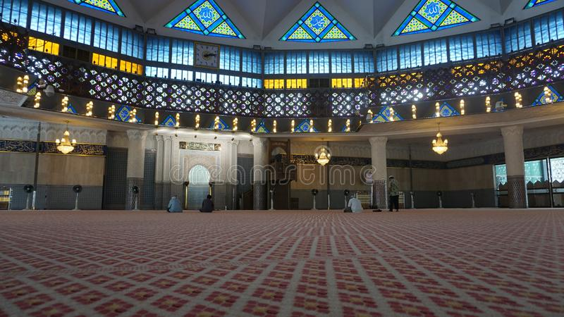 A spacious mosque from Singapore. A spacious mosque from travel with my friend, locaate Singapore royalty free stock photography