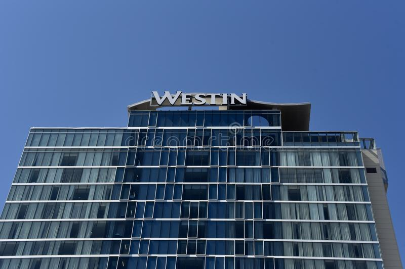 Westin Hotel and Resort Chains. Spacious suites and modern accommodations set the stage for a refreshing stay at The Westin royalty free stock photo