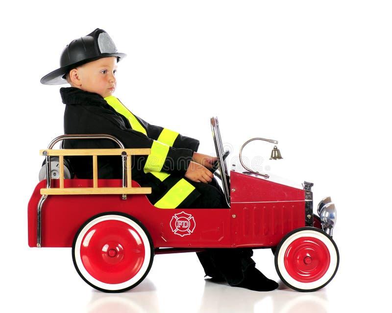 Spacy Fireman stock image