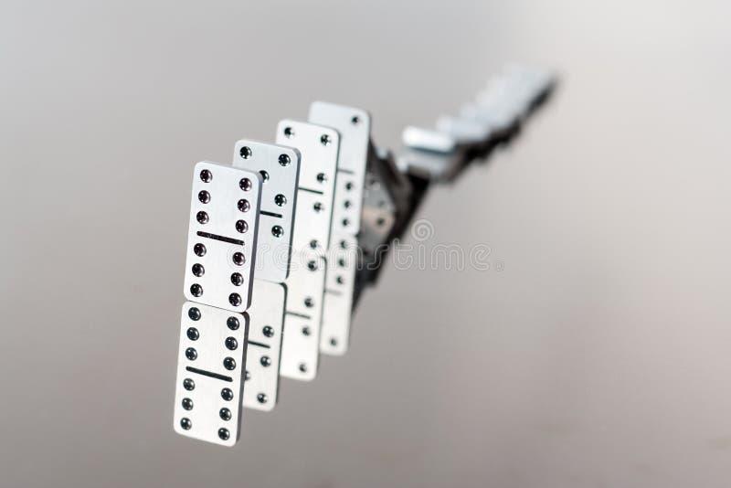 spadać domino kolejka zdjęcie stock