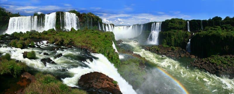 spadać iguazu panoramiczny obrazy royalty free