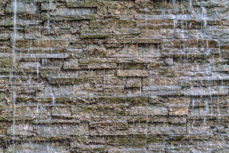 Spadać kaskadą siklawy fontannę zdjęcie stock