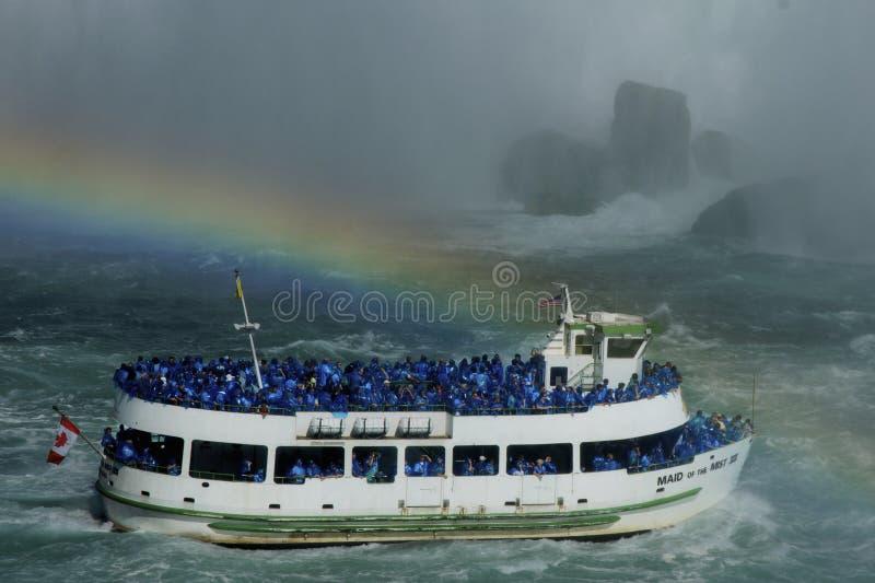 spadać Niagara tęcza zdjęcie royalty free
