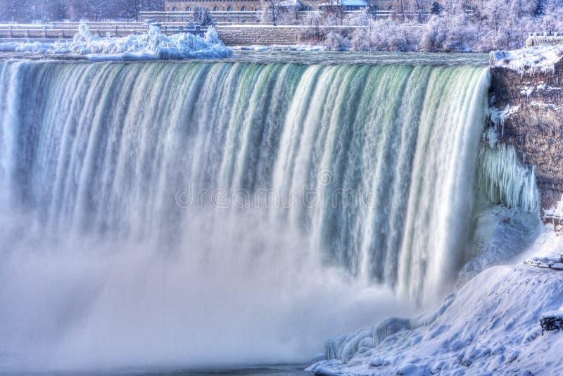 spadać Niagara zima fotografia royalty free