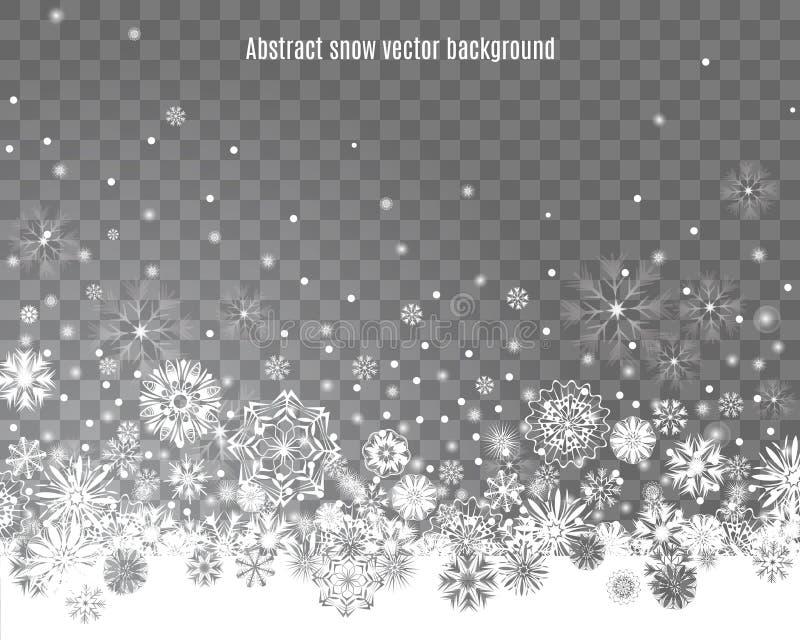 Spada śnieg na przejrzystym tle ilustracja wektor