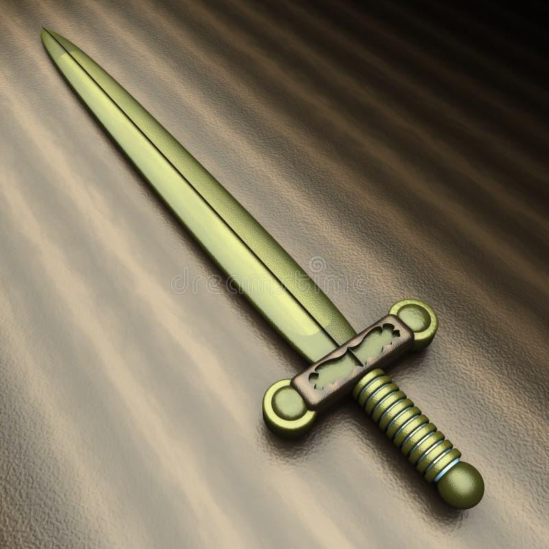Download Spada antica illustrazione di stock. Illustrazione di acciaio - 56891828