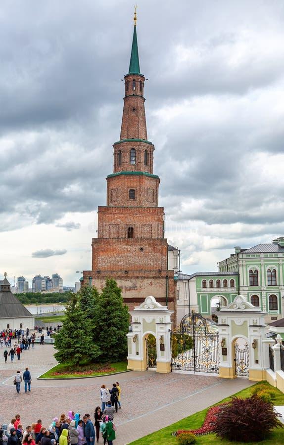 Spada Basztowy Syuyumbike w Kazan Kremlin obrazy royalty free