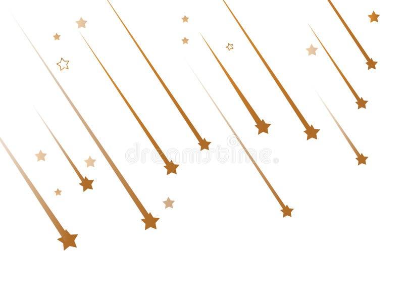 Spada gwiazdy s? prostym rysunkiem wektor ilustracji