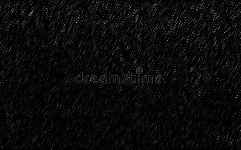 Spada raindrops odizolowywający na ciemnym tle Ulewnego deszczu i pogody burza w padać sezon zdjęcia stock