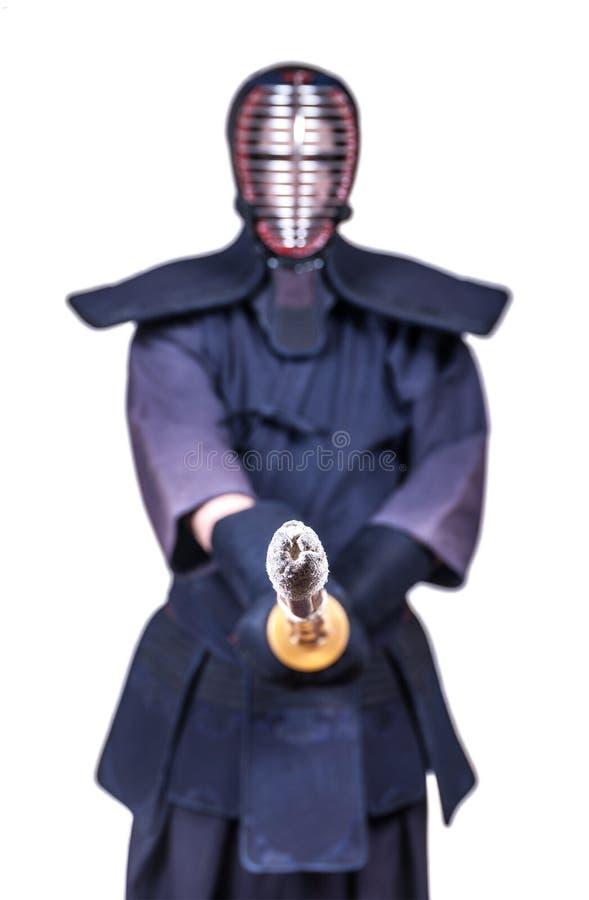 Download Spadaccino Nella Posizione Di Attacco E Nel ` Di Bogu Del ` Protettiva Dell'attrezzatura Fotografia Stock - Immagine di attacco, giapponese: 117976002