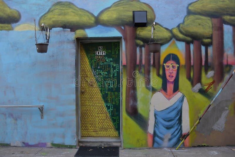 Spadaina 2016 de Toronto da pintura de parede foto de stock