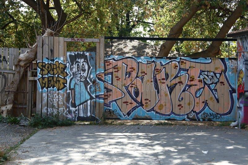 Spadaina 2016 de Toronto da pintura de parede imagem de stock royalty free
