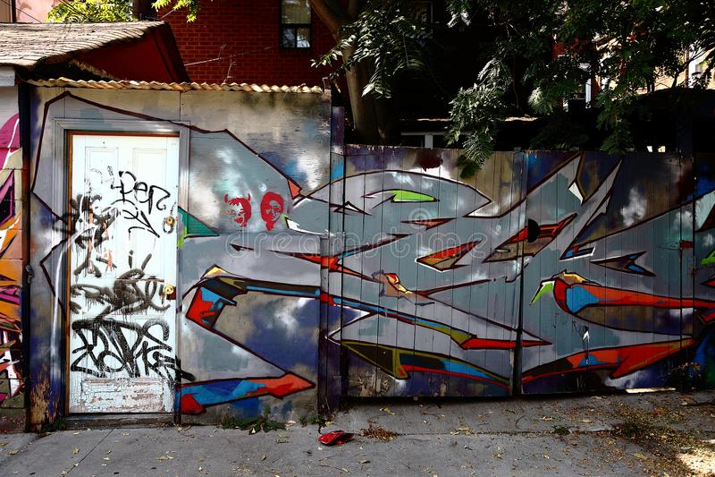 Spadaina 2016 de Toronto da pintura de parede foto de stock royalty free