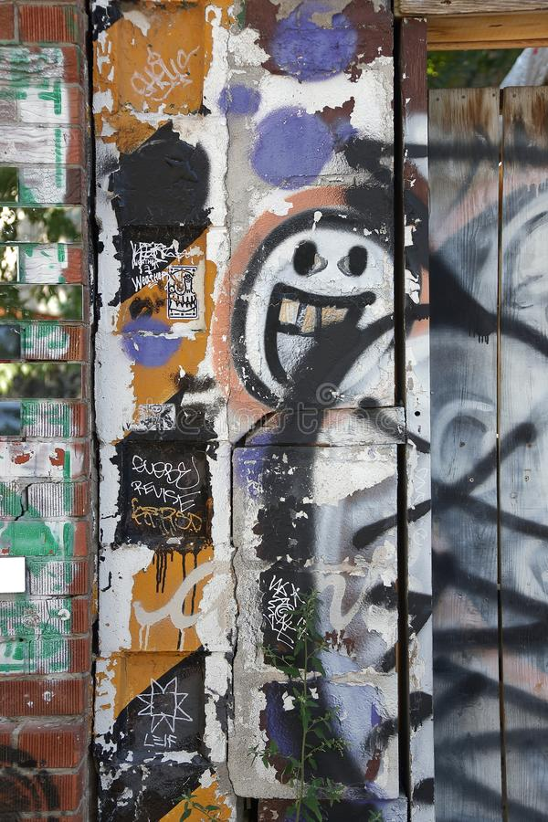 Spadaina 2016 de Toronto da pintura de parede imagem de stock