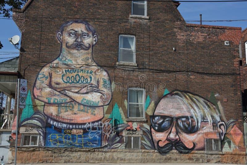 Spadaina 2016 de Toronto da pintura de parede fotografia de stock royalty free