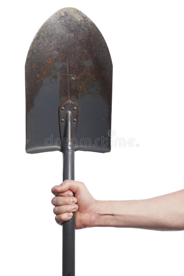 Download Spade stock photo. Image of tool, beaten, hand, holding - 13964804