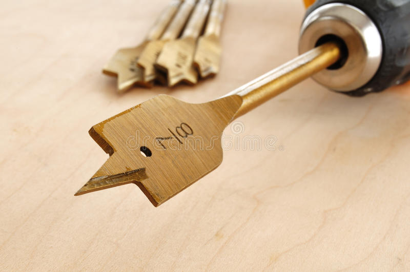Download Spade Bit in a Drill stock image. Image of copy, plank - 12513023