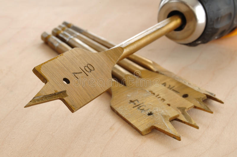 Download Spade Bit in a Drill stock photo. Image of numbers, wooden - 12648418