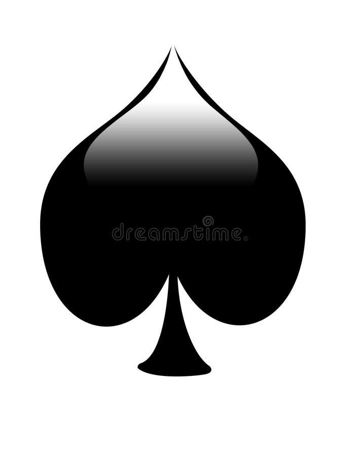 Spade Card Symbol Stock Illustration. Illustration Of