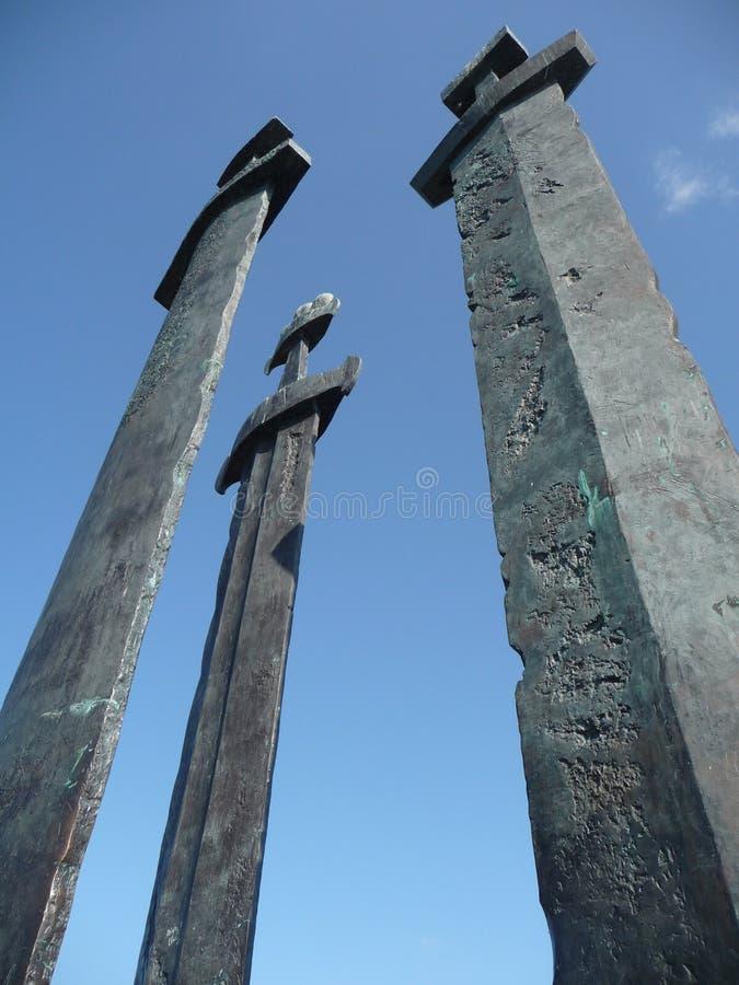 Spade di Stavanger fotografie stock libere da diritti