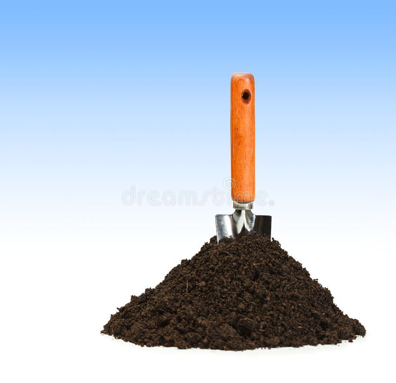 Download Spade and dirt stock photo. Image of nature, manual, equipment - 19599270