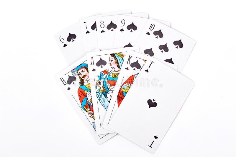 Spade koninklijke gelijke speelkaarten royalty-vrije stock afbeelding