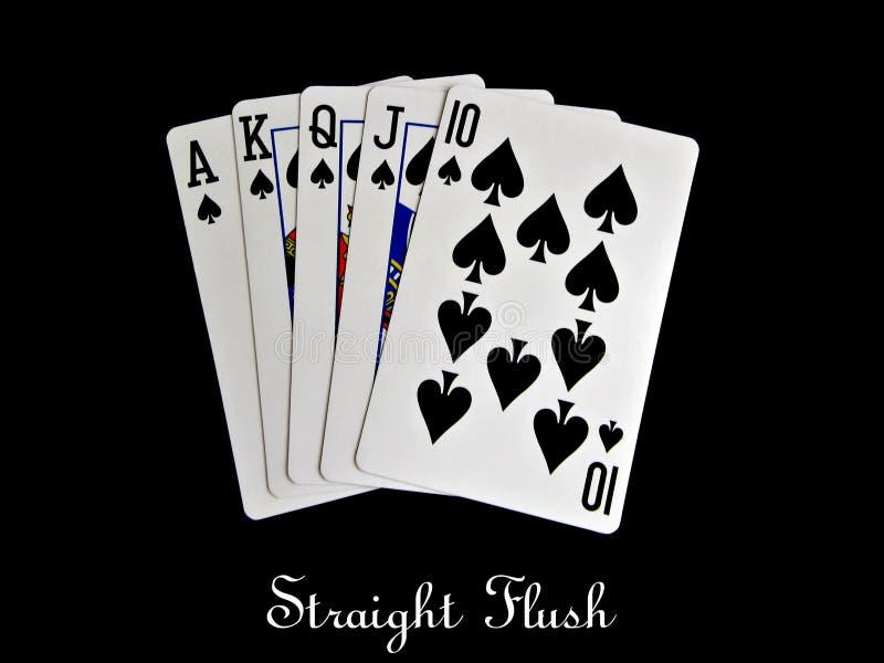 Download Spade straight flush stock illustration. Illustration of poker - 20455479