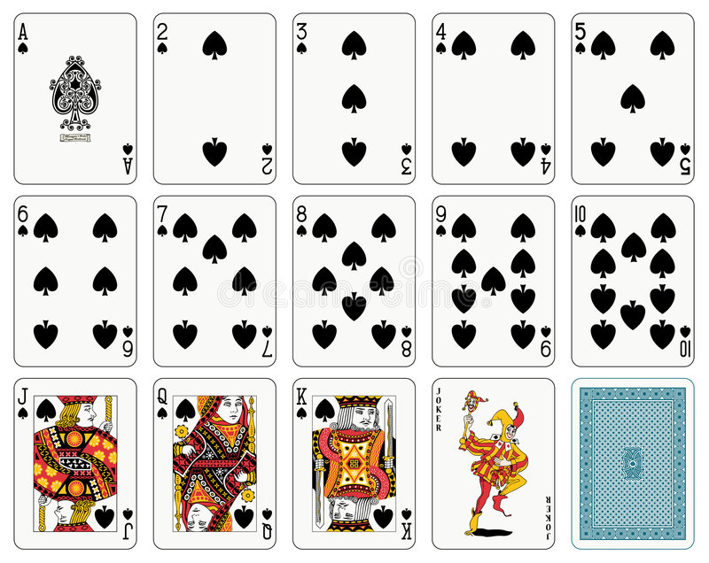 Spade suit royalty free illustration