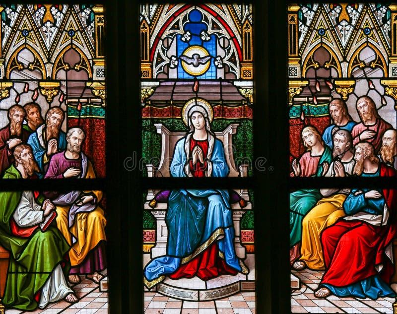 Spadek Święty duch przy Pentecost zdjęcie royalty free