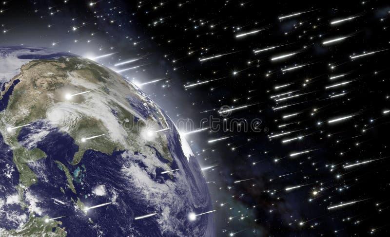 Spadek asteroidy royalty ilustracja