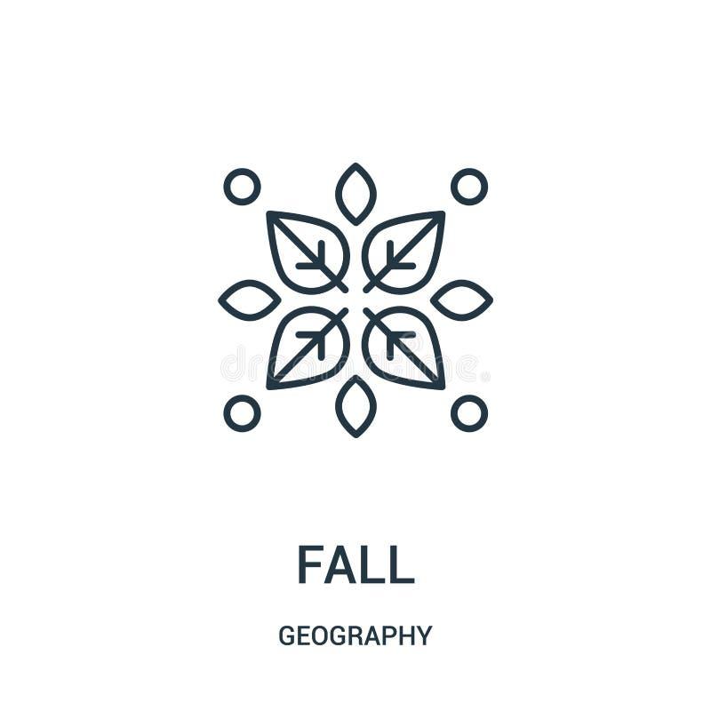 spadek ikony wektor od geografii kolekcji Cienka kreskowa spadku konturu ikony wektoru ilustracja royalty ilustracja