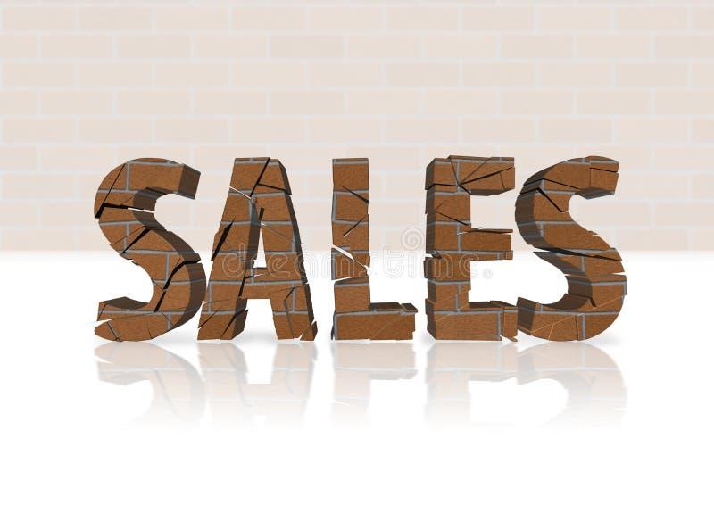 spadek lokalowe sprzedaże ilustracji