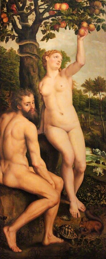 Spadek mężczyzna - grzech pierworodny obraz royalty free