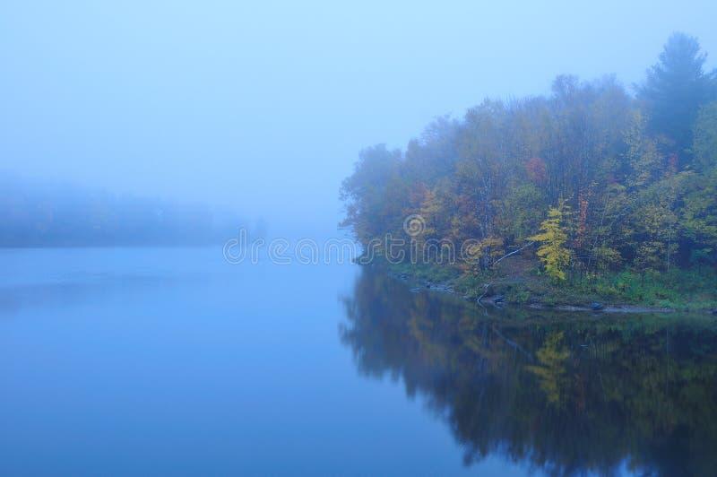 spadek mgłowy mglisty stawowy Vermont zdjęcie stock