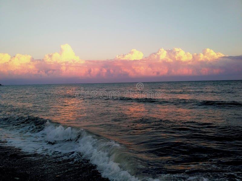 Spadek na Czarnym morzu obrazy royalty free