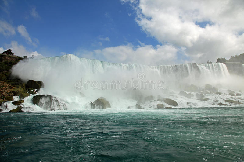 spadek Niagara parkowy stan fotografia royalty free