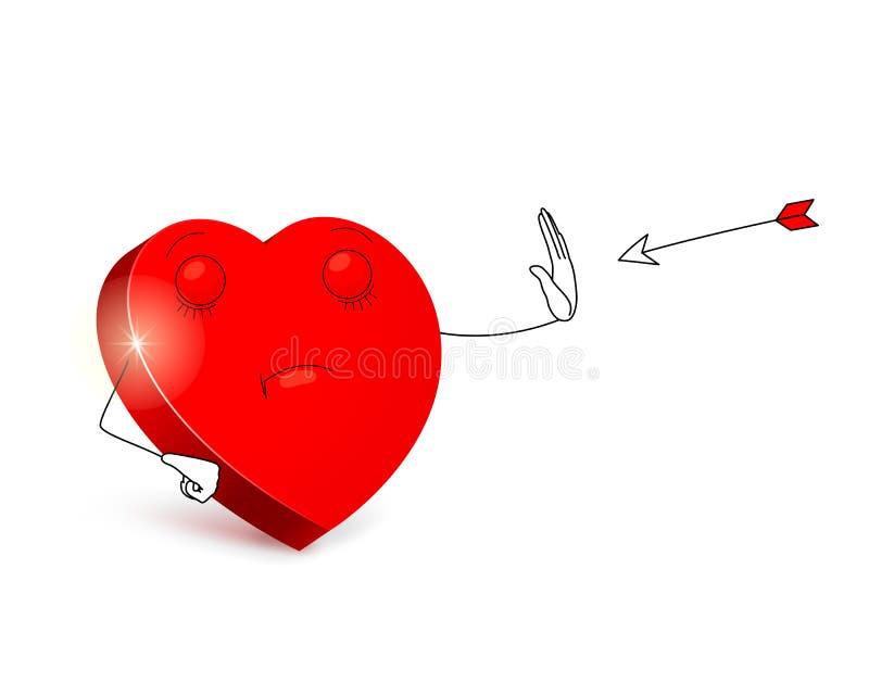 Spadek w miłości - żadny dzięki royalty ilustracja