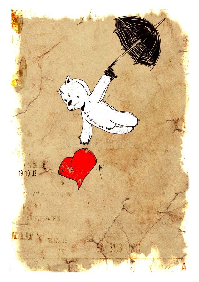 Spadek w miłości ilustracji
