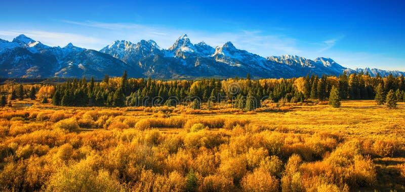 Spadek w Uroczystym Tetons parku narodowym fotografia royalty free