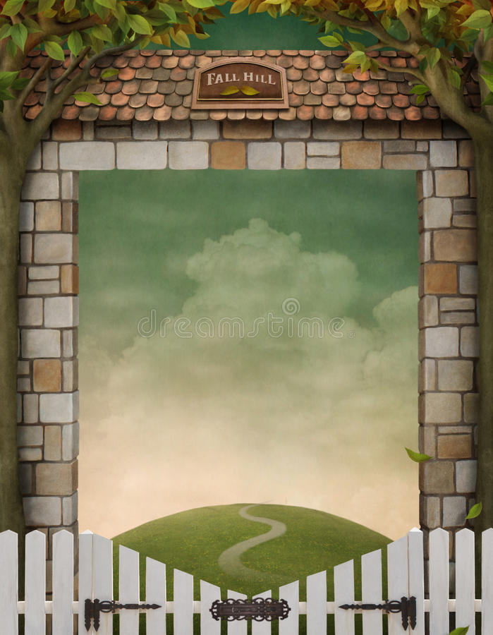 spadek wzgórze ilustracja wektor